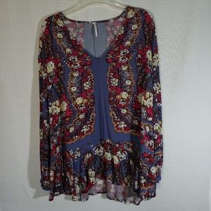 Free People Floral Tunic with peplum